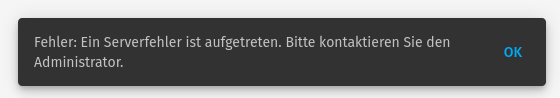 Fehler Open Slides
